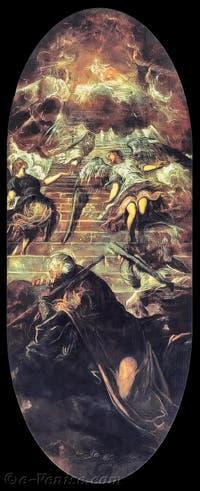 Le Tintoret, La Vision de Jacob ou L'échelle de Jacob, à la Scuola Grande San Rocco à Venise