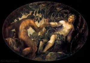 Le Tintoret, Le Péché Originel, à la Scuola Grande San Rocco à Venise