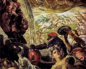 Le Tintoret, Moïse faisant jaillir l'eau du rocher, à la Scuola Grande San Rocco à Venise