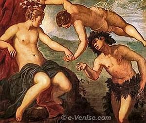 Tintoret Ariane, Vénus et Bacchus