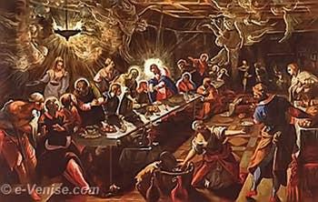 Tintoret La Cène à l'église San Giorgio Maggiore