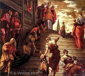 Tintoret  Présentation de la Vierge au Temple à la Madonna dell Orto