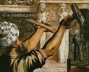 Tintoret le Miracle de Saint-Marc délivrant l'esclave - Détail