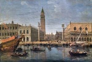 Gaspard Van Wittel, Vue de la Piazzetta, le Palais des Doges et la bibliothèque Marciana, Galerie Doria Pamphilj à Rome