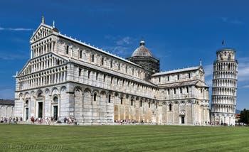 La cathédrale et la tour de Pise en Italie