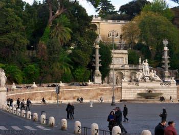 La Piazza, la place del Popolo à Rome en Italie