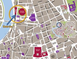 Plan de Situation du Ara Pacis à Rome Italie