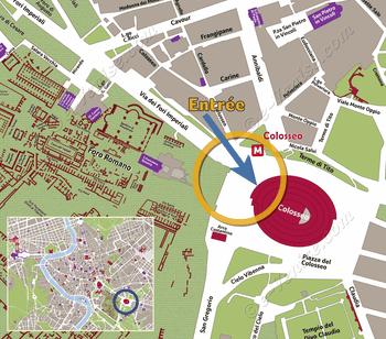 Plan de Situation du Colisée à Rome Italie