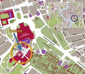 Plan de Situation du Musées du Capitole à Rome Italie