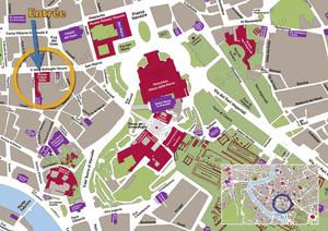 Plan de Situation du Musée Crypte Balbi à Rome Italie