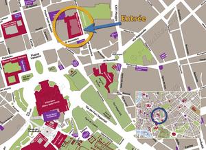 Plan de Situation du Palais Colonna à Rome Italie