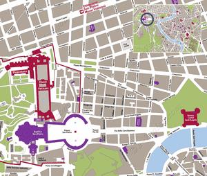 Plan de Situation du Place Saint-Pierre à Rome Italie