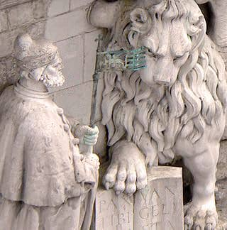 Le doge Andrea Gritti à genoux devant le lion de Saint-Marc - Palais des Doges