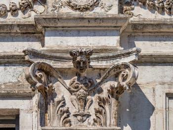 Sculpture sur le Palazzo dei Camerlenghi à Venise, Lorsque les ongles me pousseront entre les cuisses.