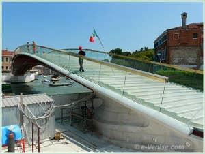 Le pont Calatrava ou pont de la Constitution, ponte della Costituzione à Venise
