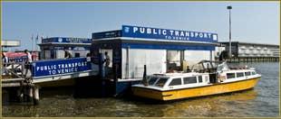 L'embarcadère des bateaux Alilaguna à l'Aéroport Marco Polo de Venise