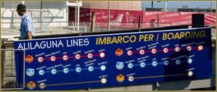 Les lignes des Bateaux Alilaguna depuis l'aéroport Marco Polo de Venise
