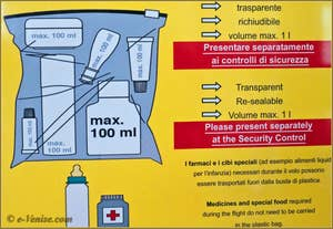Mesures de sécurité dans les avions de la CEE pour les bagages à main