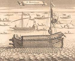 Gravure représentant le Bucintore bucintoro