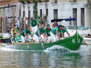 La course des Caorline à la Regata Storica de Venise, la régate historique