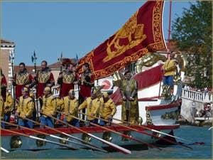 Regate historique de Venise, le Cortège officiel sur la Serenissima lors de la Regata Storica