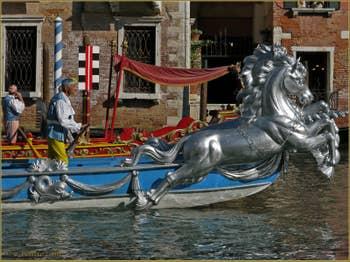 Regata Storica, la Régate Historique de Venise, les bateaux du Cortège Historique