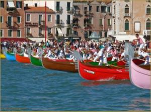 Régate Historique de Venise, régate amateur de gondoles à 4 rameurs