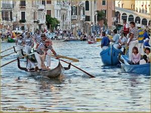 Regata Storica de Venise, la régate des Gondolini