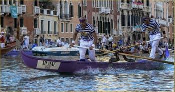 La Regata Storica, la Régate Historique de Venise, régate des Gondolini