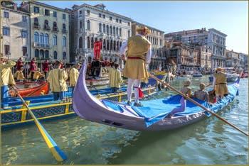 Le Cortège historique et sportif de la Regata Storica, la Régate Historique de Venise.