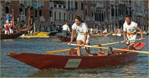La Regata Storica, la Régate Historique de Venise, régate féminine sur Mascarete