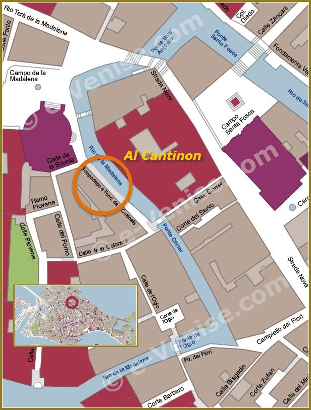 Plan d'accès Osteria Al Cantinon à Venise