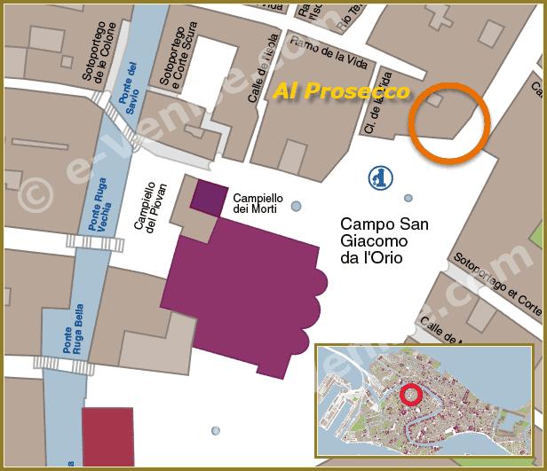 Plan d'accès Bar Œnothèque Al Prosecco à Venise