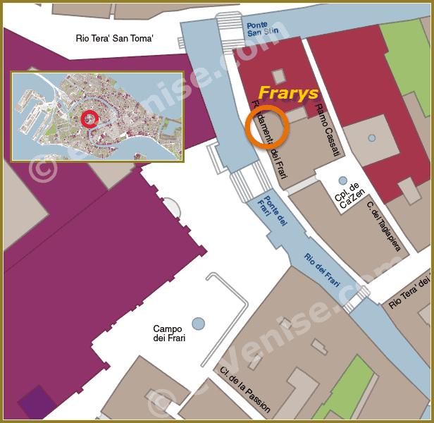 Plan d'accès au Restaurant Frary's à Venise