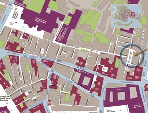 Plan de Situation du restaurant Santa Giustina à Venise