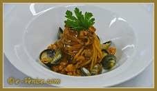 Spaghettis à la sauce de poissons de la Lagune de Venise