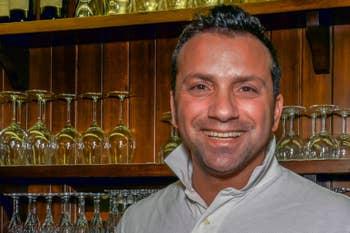 Luca Travaglini, le patron de la Pizzeria Trattoria Al Vecio Canton