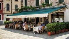 La Terrasse de l'Ostaria Boccadoro à Venise