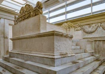 L'autel des sacrifices de l'Ara Pacis, Autel de la Paix d'Auguste à Rome en Italie
