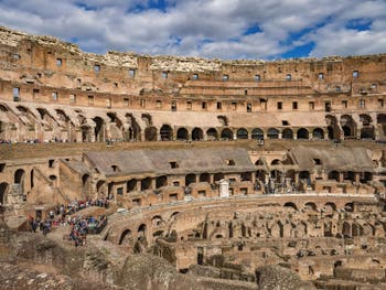 Le Colisée à Rome en Italie, l'amphithéâtre Flavien