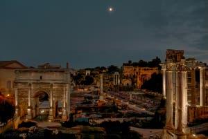 Le Forum Romain avec l'Arc de Triomphe de Septime Sérère et le Temple de la Concorde