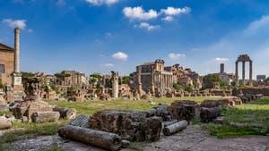 Le Forum Romain à Rome en Italie