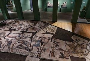 Mosaïque d'une Scène de Chasse aux Fauves du IVe siècle au musée Centrale Montemartini à Rome en Italie