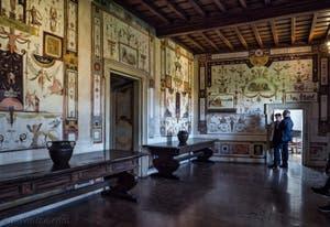 La Cagliostra, fresques de Luzio Luzi Château Saint-Ange, le Castel Sant'Angelo à Rome