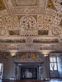 Salle de la Bibliothèque, fresques de Luzio Luzi Château Saint-Ange, le Castel Sant'Angelo à Rome