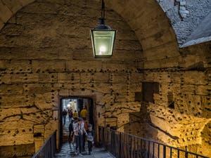 La salle des urnes du Château Saint-Ange, le Castel Sant'Angelo à Rome