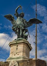 Archange saint Michel, Peter Anton von Verschaffelt, Château Saint-Ange, le Castel Sant'Angelo à Rome