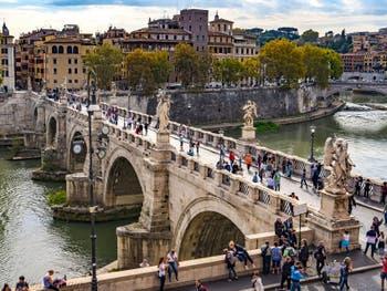 Le pont Saint-Ange ou Sant'Angelo à Rome