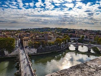 La vue depuis la terrasse du Château Saint-Ange, le Castel Sant'Angelo à Rome