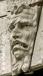 sculpture de la loggia de la Dogana da Mar, la douane de mer à Venise